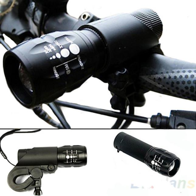 240Lumen Q5 Cycling Bike Bicycle LED Front Head Light Torch Lamp With Mount Brand New