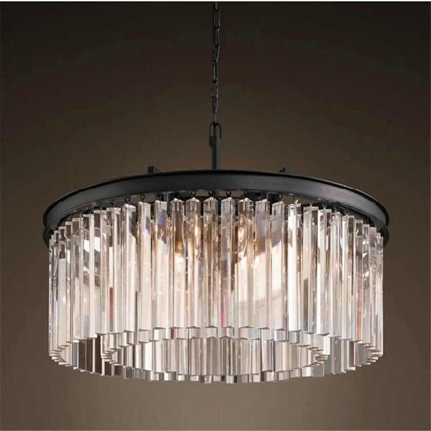 Nordic Modern luxury 2 layer led chandelier for villa hotel restaurant crystal droplight for project lighting lutre fixture restaurant crystal lamp square postmodern simple stainless steel bronze villa luxury led modern crystal chandelier for bedroom