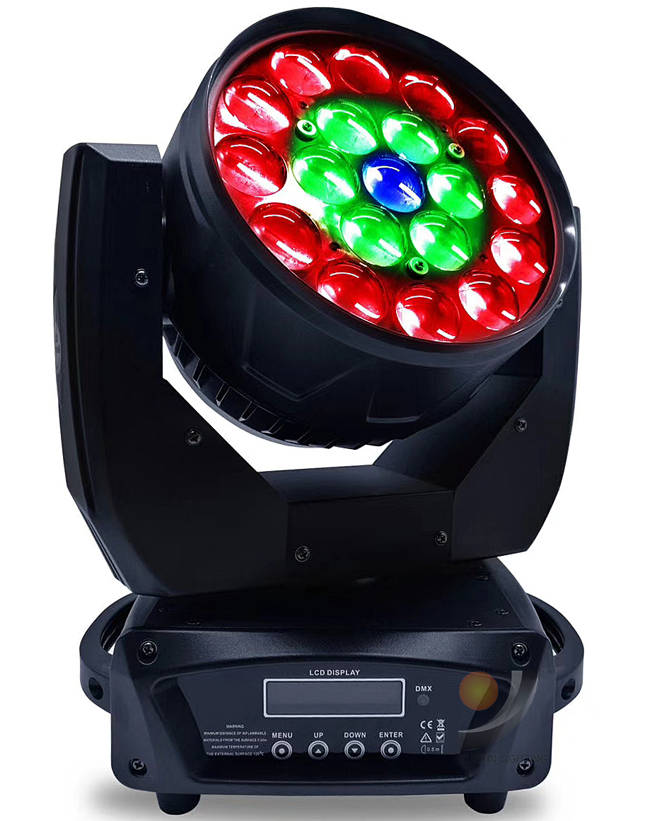 19x12w 4in1 Led Ring Control Wash Beam Zoom Moving Head Light for DJ Stage Party Event Show Fixture Effect Wedding Lighting