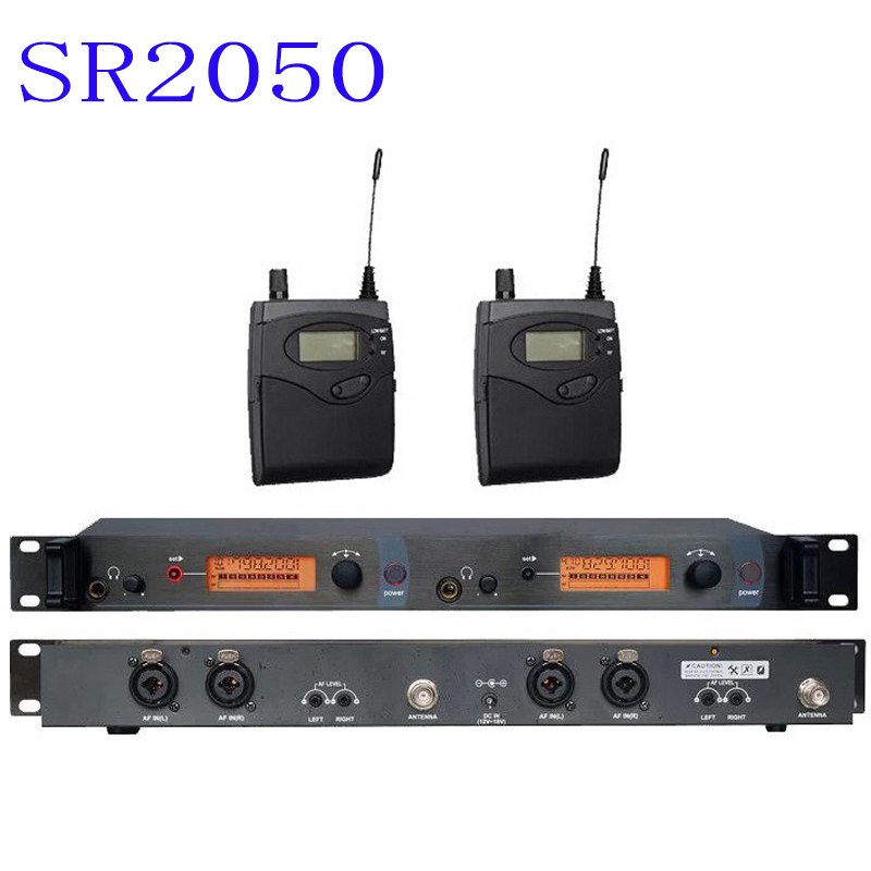 pro In Ear Monitor Wireless System, Twin transmitter Monitoring Professional for Stage Performance SR2050 IEM 6 pack receivers wireless in ear monitor system professional dual channels transmitter sr 2050 iem