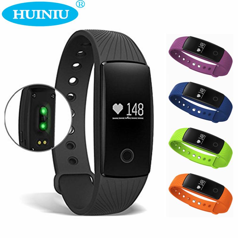 Heart Rate Monitor Smart Wristband Social Media Notifications Armband Step Counter Fitness Track Band Smartband For