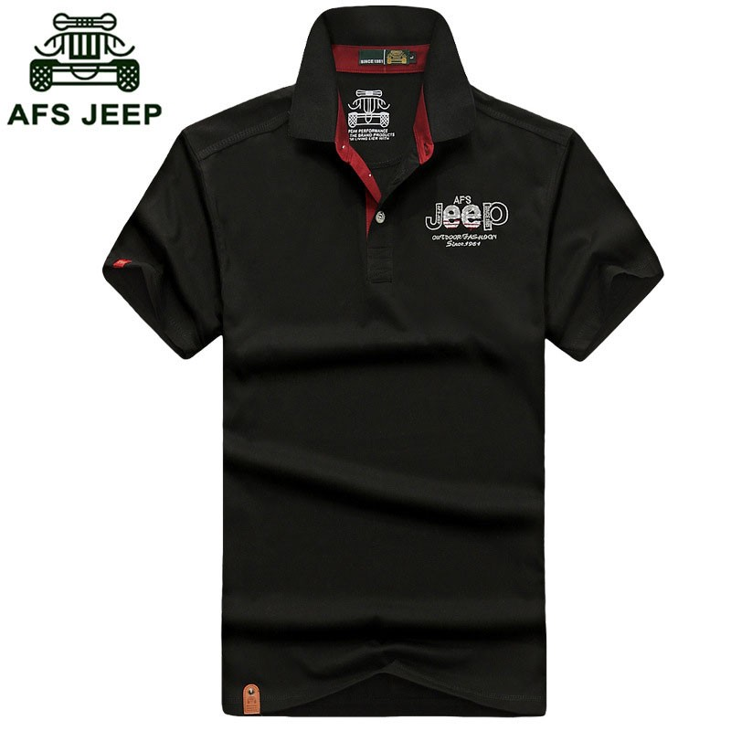 2016 New Summer Polo Casual Fashion Shirt Short Sleeve Tees Men Cotton Tops AFS JEEP Brand Solid Color Shirt Fashion Plus Size (7)