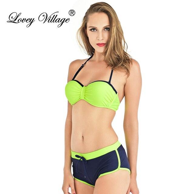 77e62e1eb6 Tankini with Shorts Plus Size Push Up Bikini Set 2 Pcs Maillot De Bain  Femme Women Swimwear Bathing Suit Swimsuit Push Up