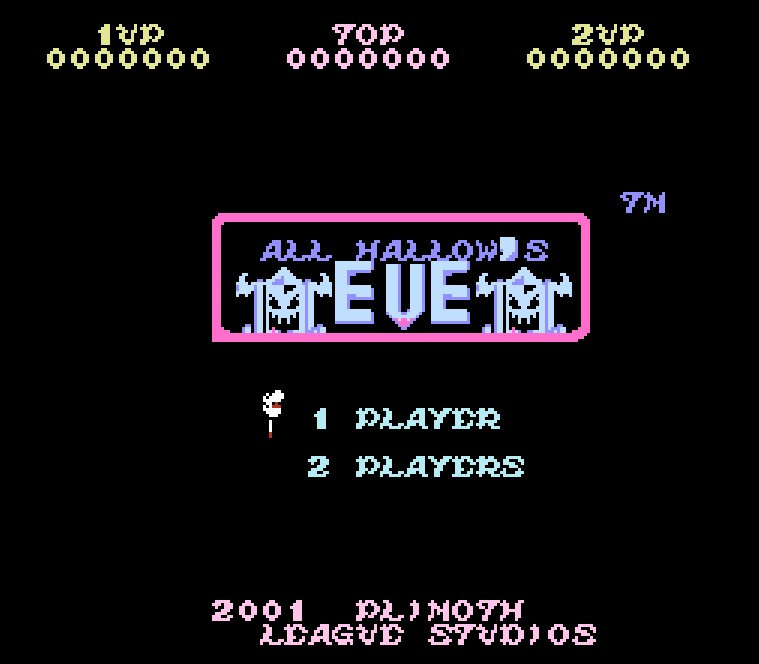 Ghosts 'n Goblins Hack All Hallow's Eve Game Card For 72 Pin 8 Bit Game Player