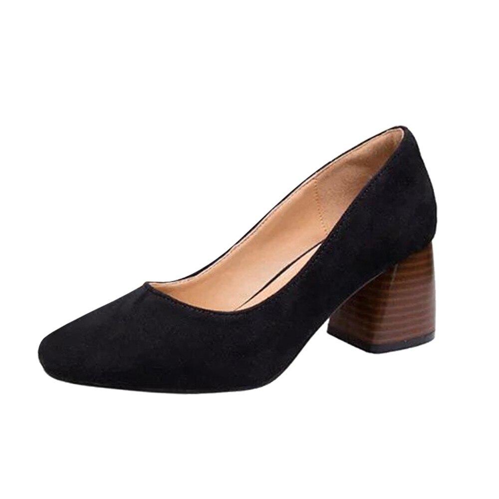 caqui Para rojo Alto Mujer Verano Cómodos Mujer Moda 2018 Plataforma Nuevos Zapatos Negro De Tacón Grueso wZ4qRUC