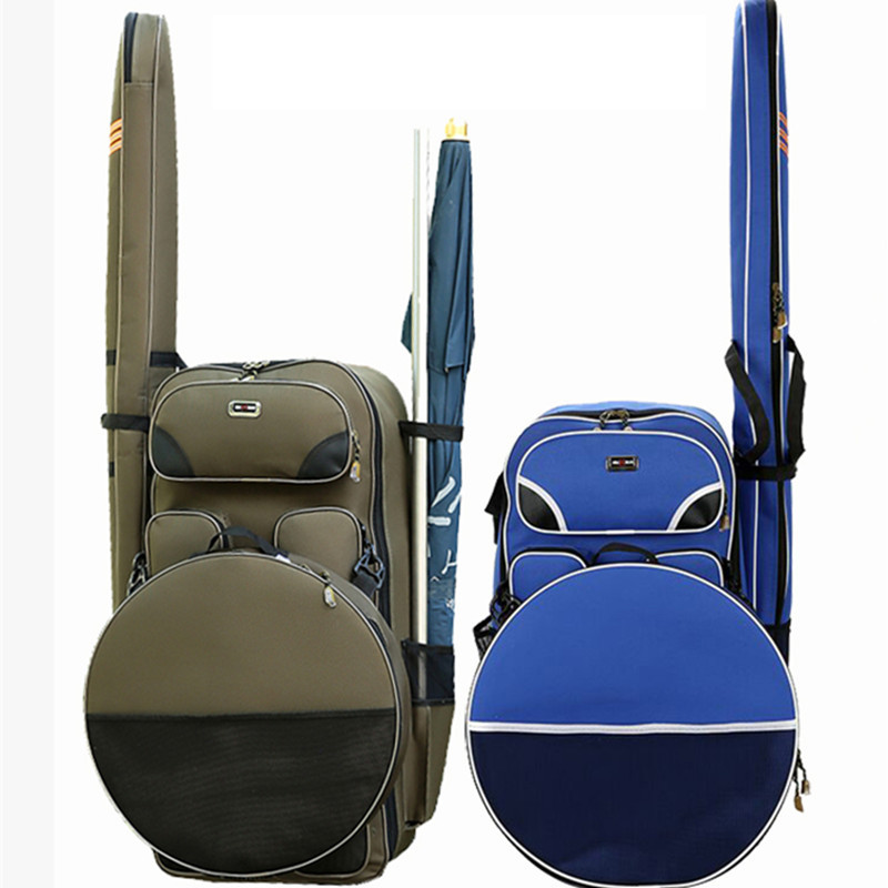 Cross Border Specially Designed for Fishing Chair Backpack Shoulder Composite Belt Canvas Fishing Gea Bags