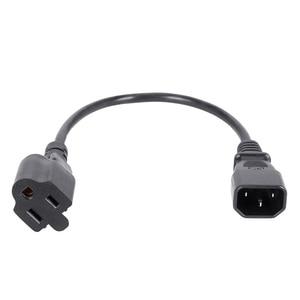 Image 5 - 1ft IEC 320 C14 штекер для NEMA 5 15R 3 зубец женский ПК адаптер питания кабель черный