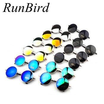 Vintage Steampunk Sunglasses Round Designer Steam Punk Metal Oculos de sol masculino Women Coating Men Retro