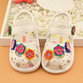 0-2 Y baby shoes baby sandals beautiful flower baby girl pu leather shoes girls breathable hollow infant girl sandals