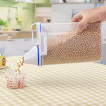 2L Plastic Cereal Dispenser Storage Box Kitchen Food Grain Rice Container Nice Hot Selling Portable New C528