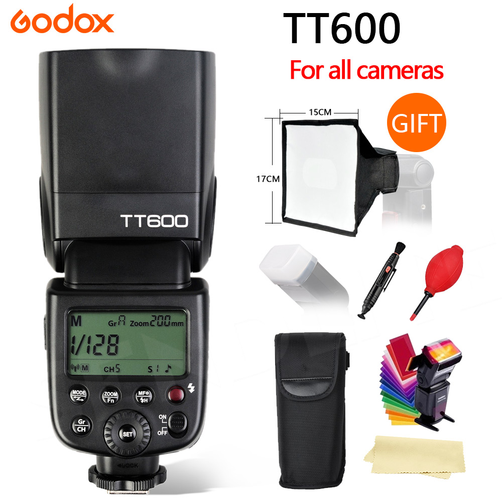 Godox TT600 2.4G Wireless GN60 Master/Slave Camera Flash Speedlite for Canon Nikon Sony Pentax Olympus Fujifilm godox tt560 camera flash speedlite for canon 60d 550d 600d 700d 1000d 1100d nikon sony panasonic olympus fujifilm dslr cameras