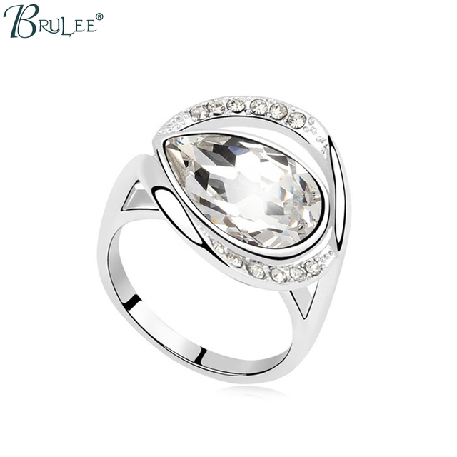 fa8096e7058d1 US $11.99 |2017 New Classic Spring Swarovski Elements Crystals from  Swarovski Big version Heart Rings for women crystal jewelry Hot sale-in  Rings from ...