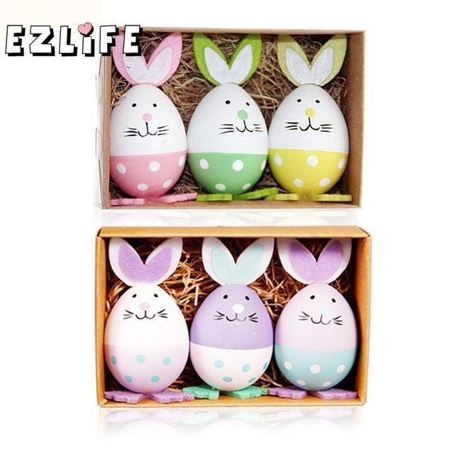 Easter bunny eggs (3pcs/set) -Easter decor items