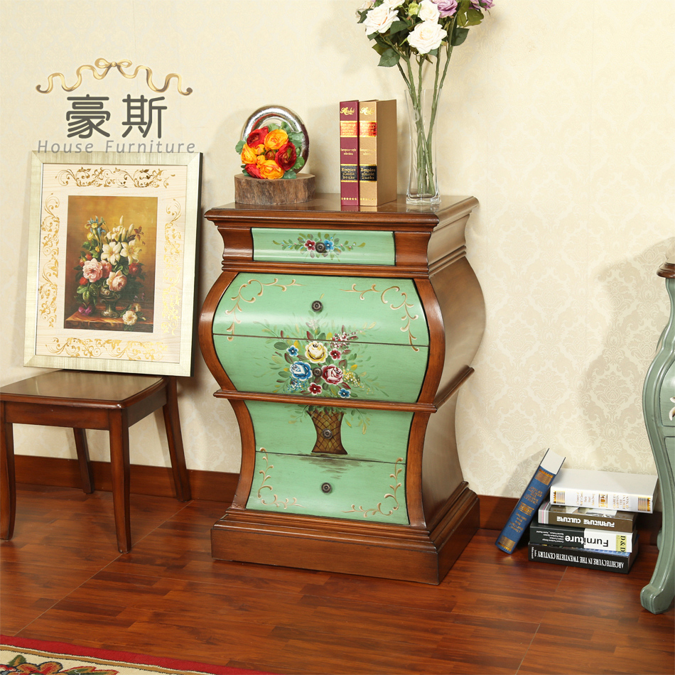 Idyllic Small Fresh Hand Painted Chest Of Drawers Living Room Vase Curio Cabinet Drawers Ikea