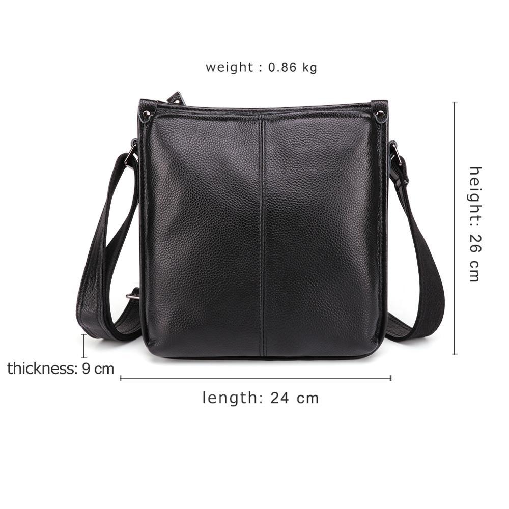 JOYIR Genuine Leather Men 39 s Messenger Bag Fashion Shoulder Bag Casual Simple Men Fashion Small Male Crossbody Bags Handbags in Crossbody Bags from Luggage amp Bags