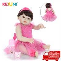 Beautiful 57 cm Reborn Baby Dolls Newborn Princess 23 Inch Full Silicone Vinyl Babies Reborn Wholesale Children's Day Gifts Toy