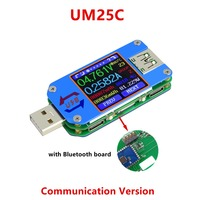USB Tester Bluetooth Communicati LCD Voltmeter Ammeter Voltage Current Meter Battery Charge Measure Cable Resistance Tester