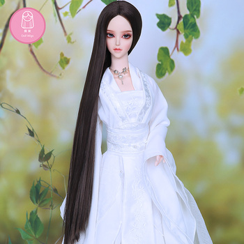 Wig For Doll BJD 1/3  handmade diy long Straight hair brown black colors Hair For Charge Extra  L07#22-24cm Doll Accessories 2