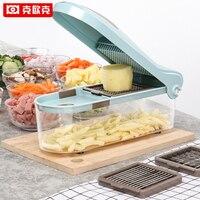 KEOUKE 5 In 1 Creative Multifunction Vegetable Grater Carrot Slicers Potato Onion Dicer Kitchen Gadget Fruit Vegetable Tools