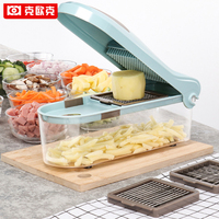 KEOUKE 5 In 1 Creative Multifunction Vegetable Grater Carrot Slicers Potato Onion Dicer Kitchen Gadget Fruit Vegetable Tools
