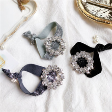 Women Lady Fashion Elastic Hair Ring Luxury Crystal Hair Rubber bands Rope Headbands Ties Hair Accessories for Women & Girls