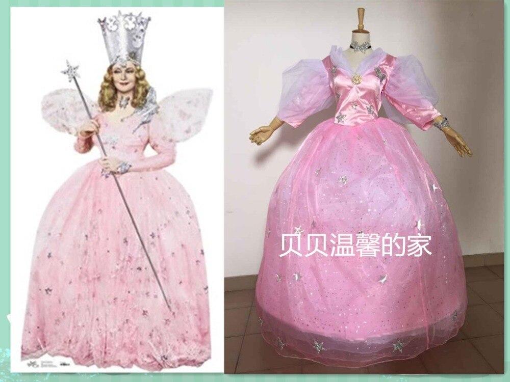 La bonne sorcière Glinda du nord costume habiller fantaisie fête Cosplay Halloween