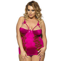 J7965 Ladies hot sexy lingerie mesh see through lace plus size lingerie chemise wholesale and retail sexy lingerie women