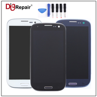 100 Test For Samsung Galaxy S3 I9305 LCD Display Digitizer Touch Screen Assembly Replacement Parts Frame