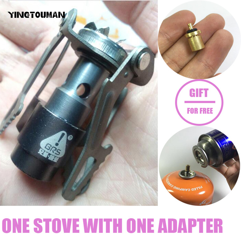 BRS-3000T Ultra-light Titanium Alloy Camping Stove Gas Stoves Outdoor Cooker Outdoor Gas Stove Miniature Picnic Stoves