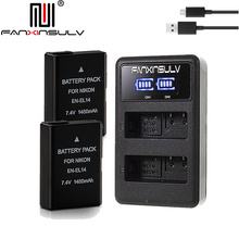 2x EN-EL14 en el14 battery + charger for Nikon D5300 SLR camera battery D5600 D5500 D5200 D5100 D3500 D3400 D3300 D3200 Tracking en el14 battery charging cradle for nikon en el14 100 240v 2 flat pin plug