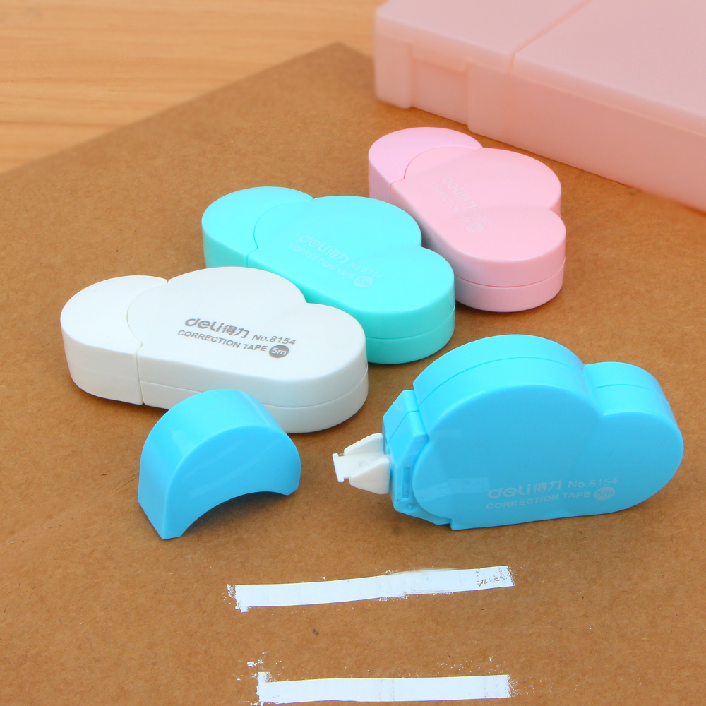 4Pcs Cute Kawaii Cloud Mini Small Correction Tape Korean Sweet Stationery Novelty Office Kids School Supplies Children