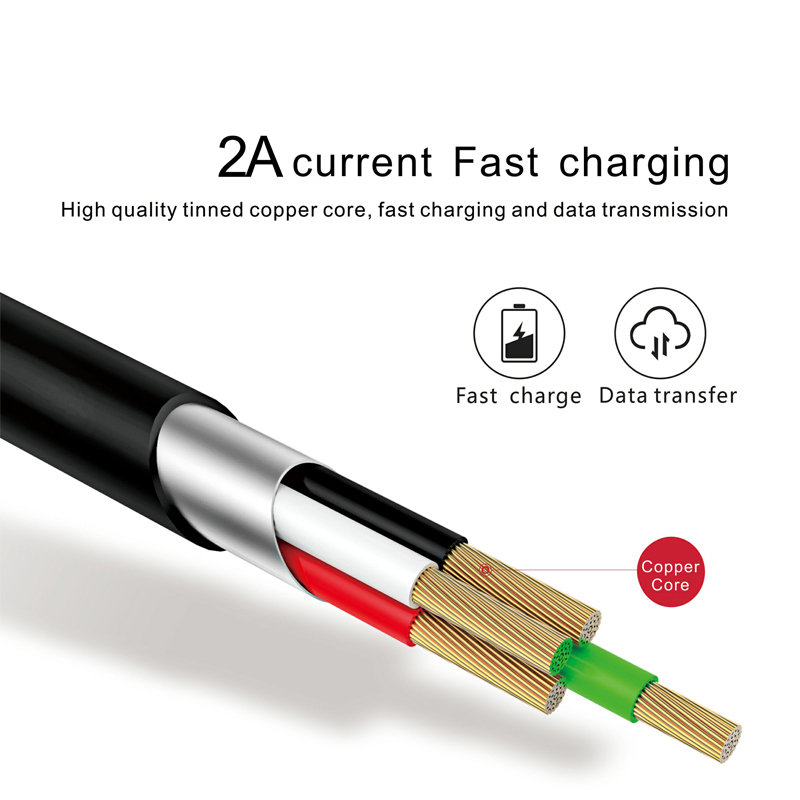 USAMS изгиба кабеля для iPhone 6 Реверсивный USB 2A Быстрая зарядка Usb кабель для iPhone 7 плюс 6 5 5S