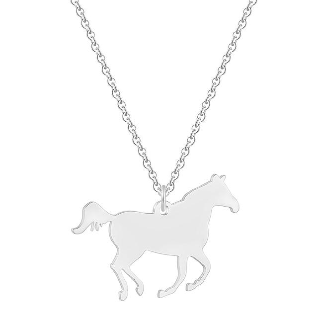 Ожерелье todorova с подвеской в виде гоночной лошади женское