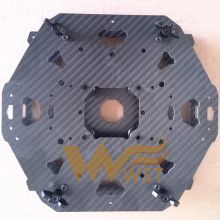 WST DIY font b drone b font Carbon fiber Center mounting plate assembled for BIG quadcopter
