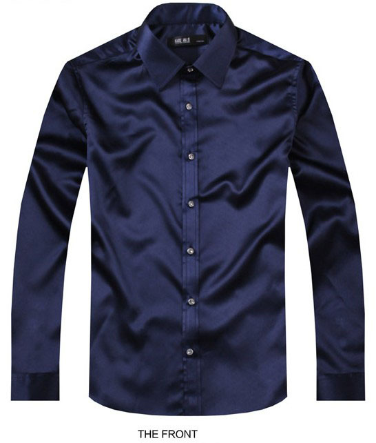 mens navy blue dress shirt page 1 - hugo-boss