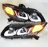 For Civic LED Strip U type Angel Eyes Head Light 2012 13 year LD