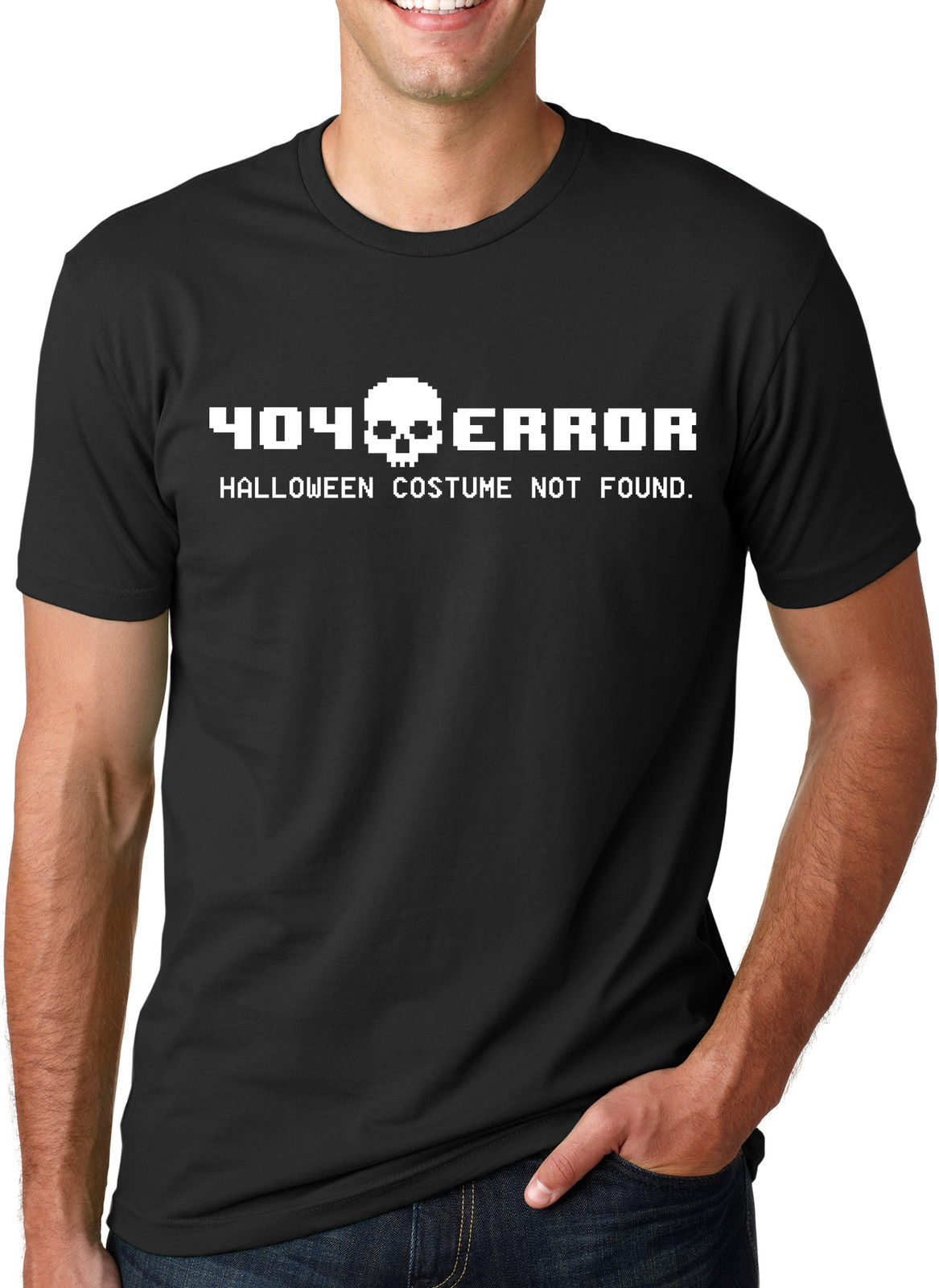 <font><b>404</b></font> <font><b>Error</b></font> Costume Not Found T <font><b>Shirt</b></font> Funny Halloween Tee T-<font><b>Shirt</b></font> Short Sleeve Brand Summer 2018 100% Cotton New Short Sleeve Men image