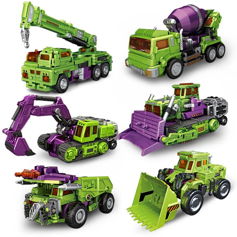 NBK Bulldozer Bonecrusher Scrapper Gravity Mixmaster Hook Builder GT Devastator KO Transformation Engineering Figure Toys цена