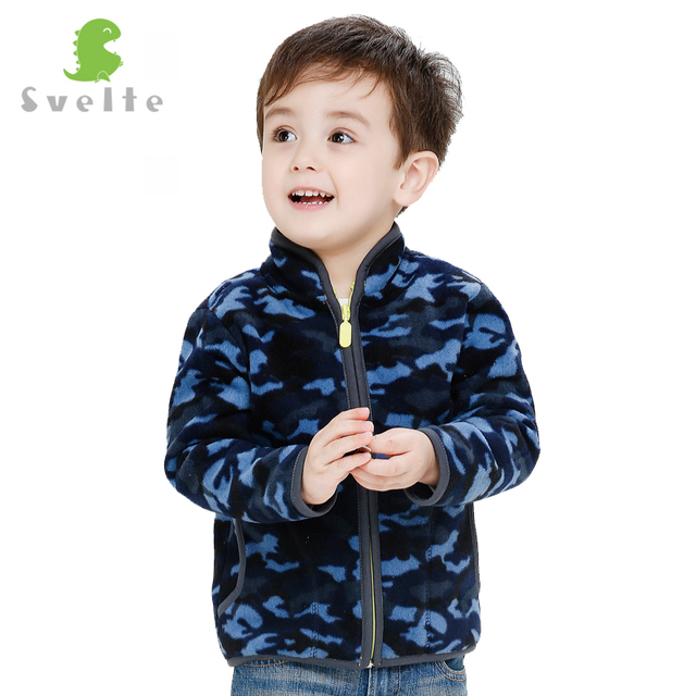 Svelte Brand Autumn Winter Children Boys Girls Unisex Heavy Fleece Outerwear Kids Soft Fur Polar Fleese Jackets Jersey Parka