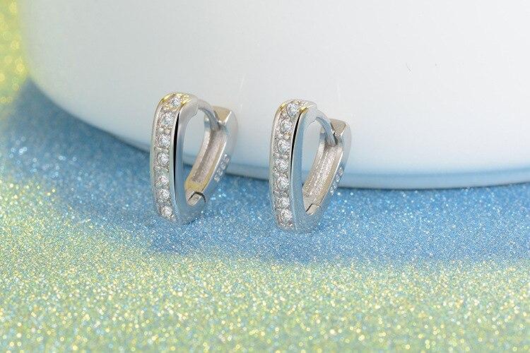 RUOYE Μοντέρνο ασημένιο σκουλαρίκια - Κοσμήματα μόδας - Φωτογραφία 3