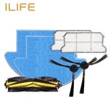 ILIFE V7S Запасный комплект для замены, робот пылесос аксессуар, HEAP Фильтр * 2, швабра ткань * 2, боковые щётки * 2