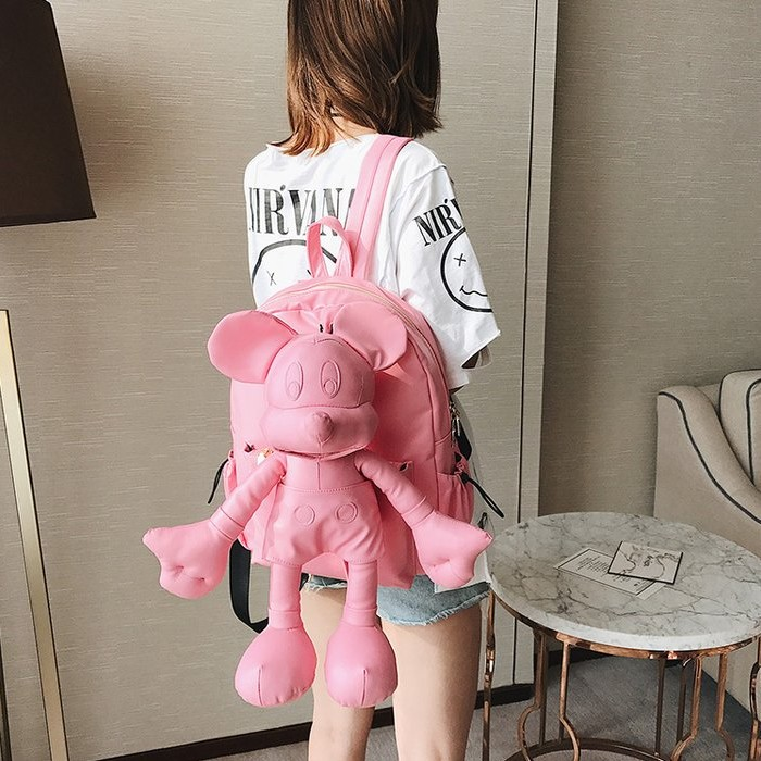 Sac à dos femme tendance dessin animé sac de voyage 2019 nouvelle personnalité Mickey version Coréenne sac à dos décontracté sauvage femmes sac