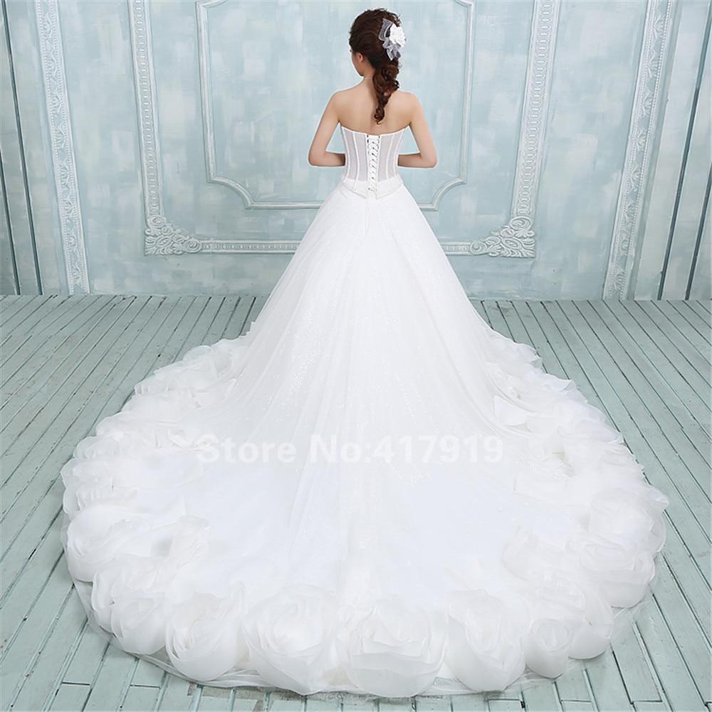 Vestido de novia con quillas