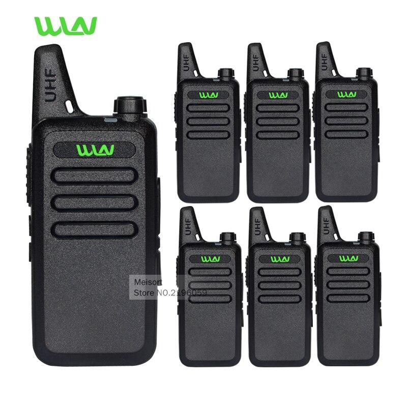 6pc Professional Walkie Talkie WLN KD C1 UHF Long Range 2 Way Radios Handheld Mobile Ham