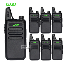 6pc Professional Walkie Talkie WLN KD-C1 UHF Long Range 2 Way Radios Handheld Mobile Ham CB Security Radios Communicator Battery