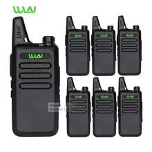 6pc Professional Walkie Talkie WLN KD-C1 UHF Long Range 2 Way Radios Handheld Mobile Ham CB Security Radios Communicator Battery