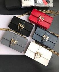 Biseafairy Newest Fashion swallow messenger bag famous brand bags pearl women handbag genuine leather letter bolsas rivet chains