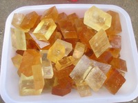 Cubic Yellow Calcite Crystal ICELAND SPAR Mineral Specimen 1000g