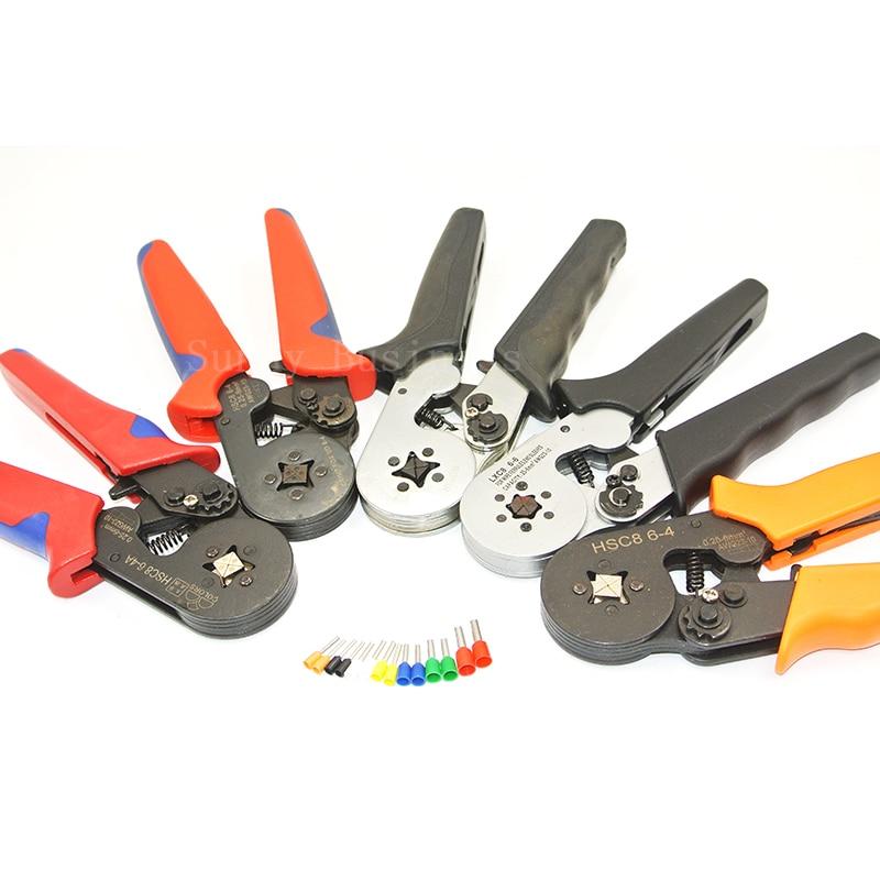 Zangen Farben Hsc8 16-4 Crimpen Zangen Für Rohr Typ Nadel Typ Terminal Crimp Selbst-anpassung Kapazität 4-16mm2 11-5awg Werkzeug Werkzeuge
