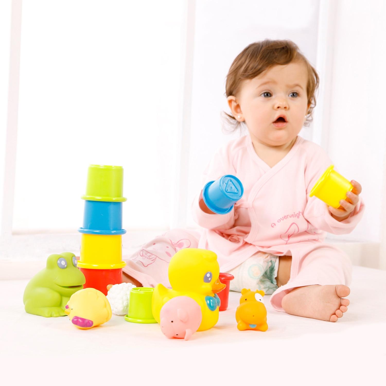 Kualitas tinggi mainan bayi mandi bayi berenang mainan kotak hadiah set 3 bayi di Mandi Mainan dari Mainan & Hobi AliExpress